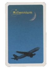 Advertising playing cards. Millennium Travel